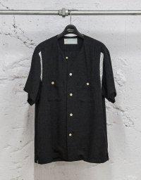 Azuma.       アズマ Round collar bowling shirt
