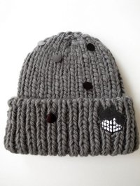 spoken words project   スポークンワーズプロジェクト knit cap wappen grey