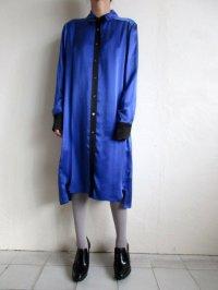 TOKIKO MURAKAMI       トキコ ムラカミ シャツドレス・ブルー×ブラック