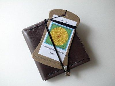画像2: ebagos  エバゴス  ホースレザー二ツ折財布 ブラック