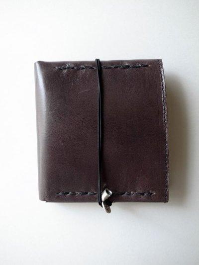 画像1: ebagos  エバゴス  ホースレザー二ツ折財布 ブラック