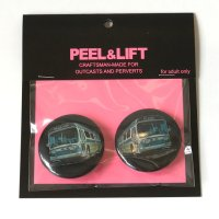 PEEL&LIFT       bus badge 38mmx2 バッチ・ブラック