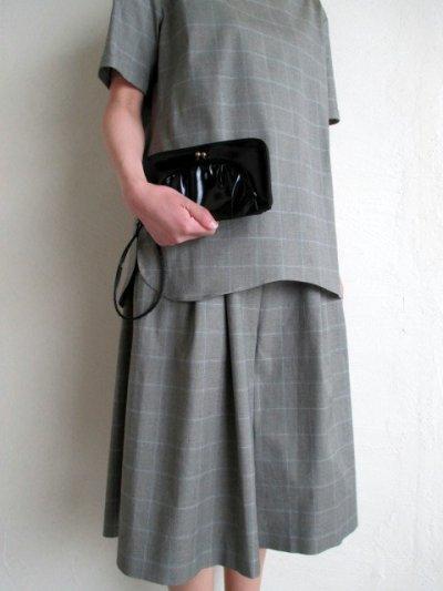 画像5: ebagos  エバゴス  ガラスレザー口金ファスナー財布 ブラック