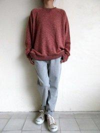 IRLY イリー       80'sトレーナー・ピンクオレンジ