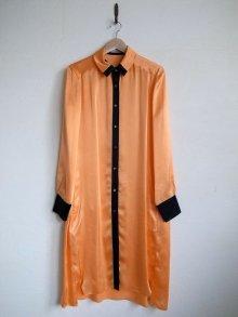 他の写真1: TOKIKO MURAKAMI       トキコ ムラカミ シャツドレス・オレンジ×ブラック