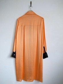 他の写真2: TOKIKO MURAKAMI       トキコ ムラカミ シャツドレス・オレンジ×ブラック