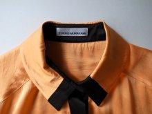他の写真3: TOKIKO MURAKAMI       トキコ ムラカミ シャツドレス・オレンジ×ブラック