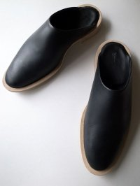 ISHMM       sabot shoes・BLACK