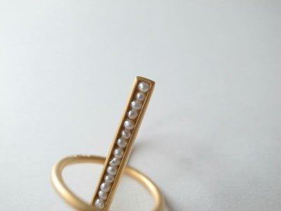 画像2: revie objects       〈LINKING〉 Penetrating ring PEARL