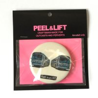 PEEL&LIFT       bus badge 57mm バッチ・ホワイト