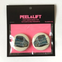 PEEL&LIFT       bus badge 38mmx2 バッチ・ホワイト