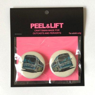 画像1: PEEL&LIFT       bus badge 38mmx2 バッチ・ホワイト