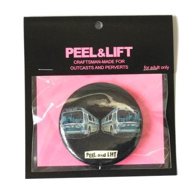 画像1: PEEL&LIFT       bus badge 57mm バッチ・ブラック