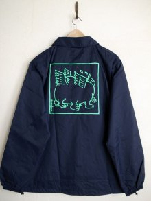 他の写真1: PEEL&LIFT        混沌 coach jacket プリントコーチジャケット・ネイビー