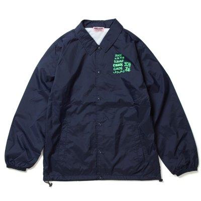 画像1: PEEL&LIFT        混沌 coach jacket プリントコーチジャケット・ネイビー