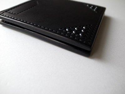画像2: black means  クリップ付きスタッズウォレット