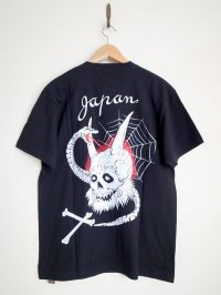 black means  oni_skull T-shirts・ブラック
