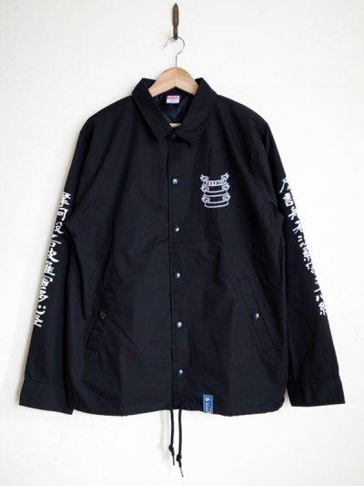画像2: black means  般若心経oni_skull coach jacket・ブラック