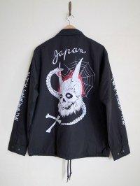 black means  般若心経oni_skull coach jacket・ブラック