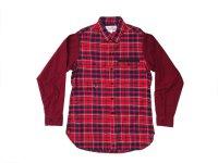 PEEL&LIFT        tartan flannel work shirt エリオットタータンネルシャツ・red