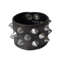 PEEL&LIFT        2 x 1 row conical wristband スタッズリストバンド