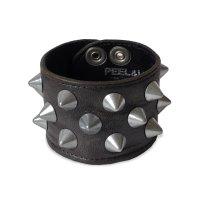PEEL&LIFT        2 x 1 row conical wristband スタッズリストバンド