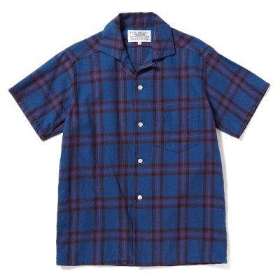 画像1: PEEL&LIFT        tartan open collar shirt エリオットタータンオープンカラーシャツ
