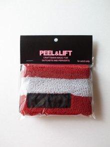 他の写真1: PEEL&LIFT        towelling wristband リストバンド・レッド×ホワイト