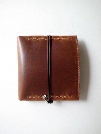 ebagos  エバゴス  カーフレザーステッチ二つ折財布