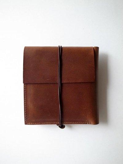 画像2: ebagos  エバゴス  カーフレザーステッチ二つ折財布