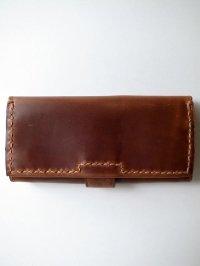 ebagos  エバゴス  カーフレザーステッチ長財布