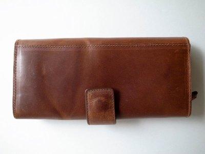 画像2: ebagos  エバゴス  カーフレザーステッチ長財布