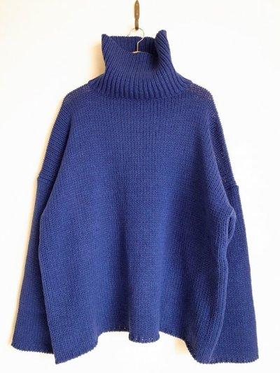 """画像1: sulvam       サルバム  """"Big high neck knit""""ビックハイネックニット"""