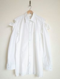 "sulvam       サルバム  ""Open sleeve SH""オープンスリーブビックシャツ・ホワイト"