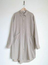 "sulvam       サルバム  ""Wool long SH""ウールロングシャツ"