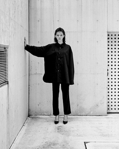 画像2: stein       OVERSIZED DOWN PAT SHIRT・BLACK