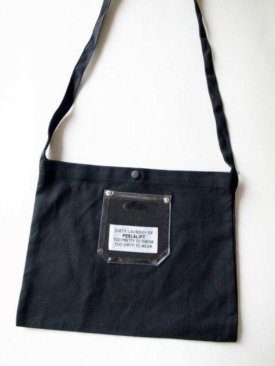 画像2: PEEL&LIFT        PVC pocket canvas sacoche サコッシュ・ブラック×クリアー