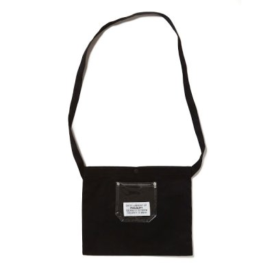 画像1: PEEL&LIFT        PVC pocket canvas sacoche サコッシュ・ブラック×クリアー