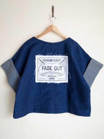 画像2: FADE OUT Label       CYAN T-shirt・blue