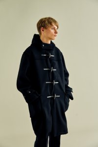 stein       SQUARE DUFFLE COAT・BLACK