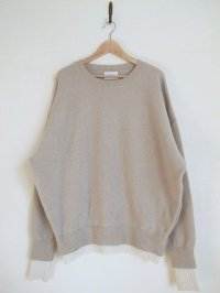 stein       OVERSIZED DOUBLE KNIT LS・OATMEAL