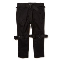 PEEL&LIFT        black satin bondage trousers modern ブラックボンテージトラウザース