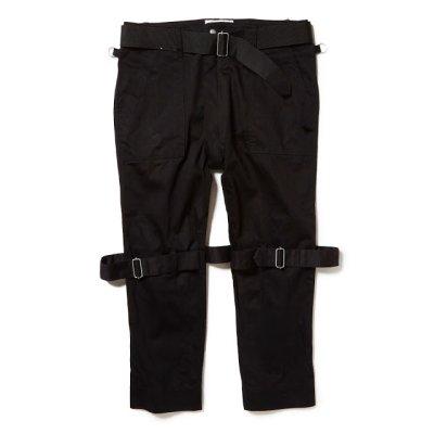 画像1: PEEL&LIFT        black satin bondage trousers modern ブラックボンテージトラウザース