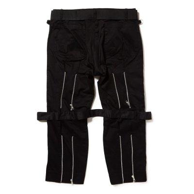 画像2: PEEL&LIFT        black satin bondage trousers modern ブラックボンテージトラウザース