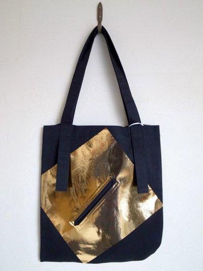 画像1: tactor       flat big bag・black×gold