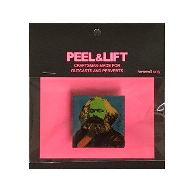 画像1: PEEL&LIFT        marx badge マルクスバッチ・ブルー