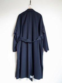 """他の写真1: sulvam       サルバム  """"over coat""""オーバーサイズガウンコート・ブラック"""
