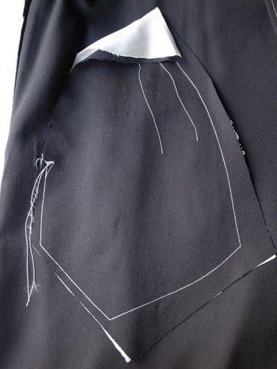 """画像2: sulvam       サルバム  """"over coat""""オーバーサイズガウンコート・ブラック"""