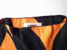 """他の写真2: sulvam       サルバム  """"school argyle knit""""アーガイルスリットニット・ブラック×オレンジ"""