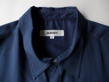 """他の写真3: sulvam       サルバム  """"long cutting SH""""ロングカッティングシャツ・ネイビー"""